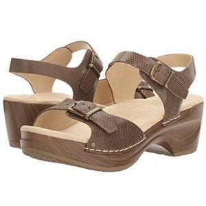 Sanita Davia Sandals Platform Clogs Size 37 Snake